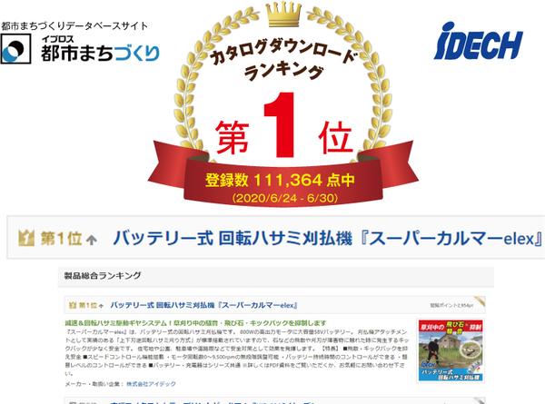カタログダウンロード数1位! 「スーパーカルマーelex」